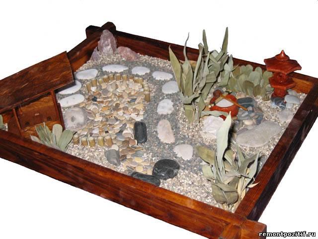Как сделать настольный сад камней своими руками