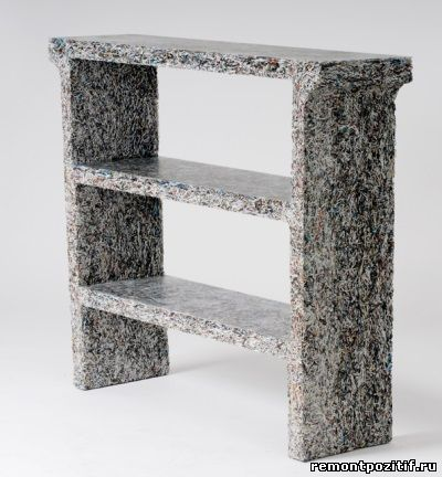 Earth-friendly jens praet shredded furniture made from magazines