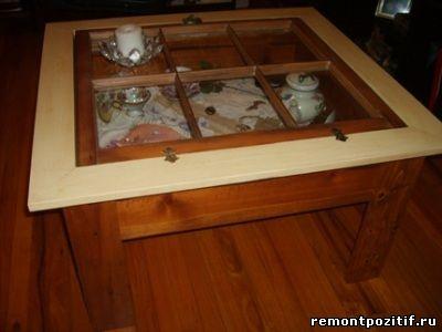 Журнальный столик под стеклом своими руками 88