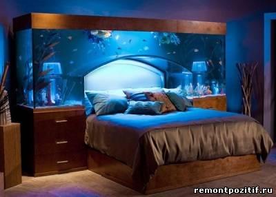 кровать аквариум с рыбками