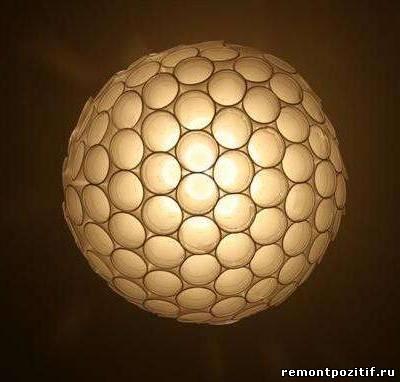 Светильник из пластиковых стаканчиков пошагово