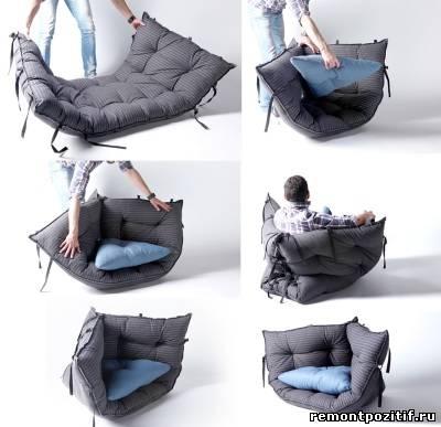 Как своими руками из матраса сделать кресло