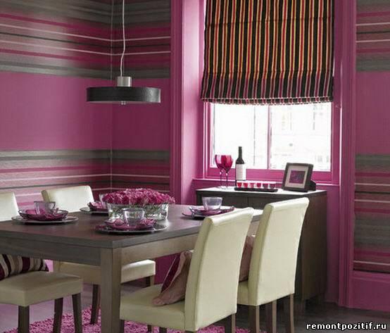 полосатый дизайн кухни