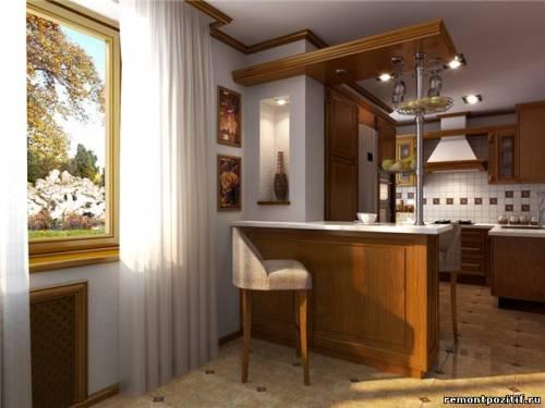 дизайн кухонной частичной стены