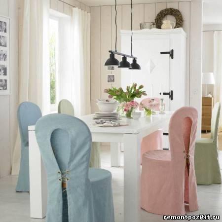 чехля для стульев на кухне