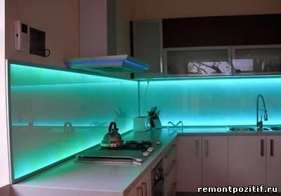 светодиодная подсветка в оформлении стен