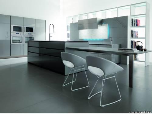 кухня выполненная в металле