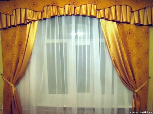 шторы с комбинированным ламбрекеном