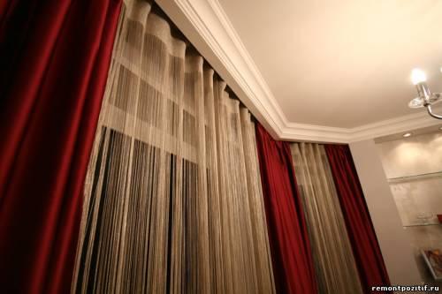 нитяные шторы бамбуковые шторы