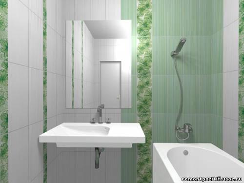 Интеьер маленькой ванной