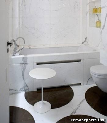 плитка в горошек для ванной