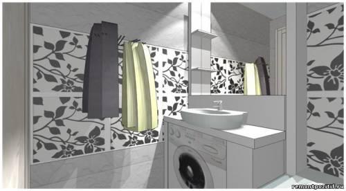 дизайн проект ванной комнаты 3 кв метра
