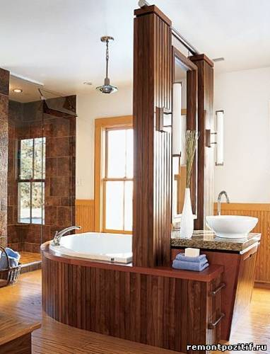 островная планировка ванной комнаты