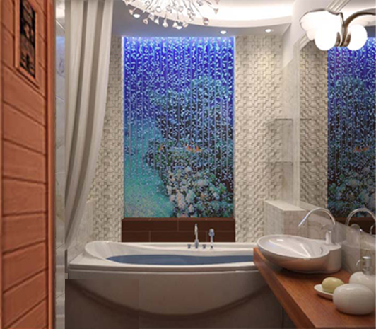 пузырьковые панели в ванной комнате