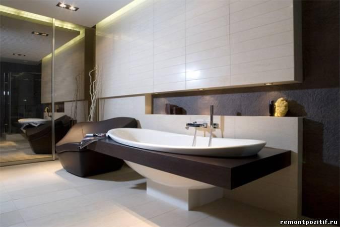 шоколадная ванная комната
