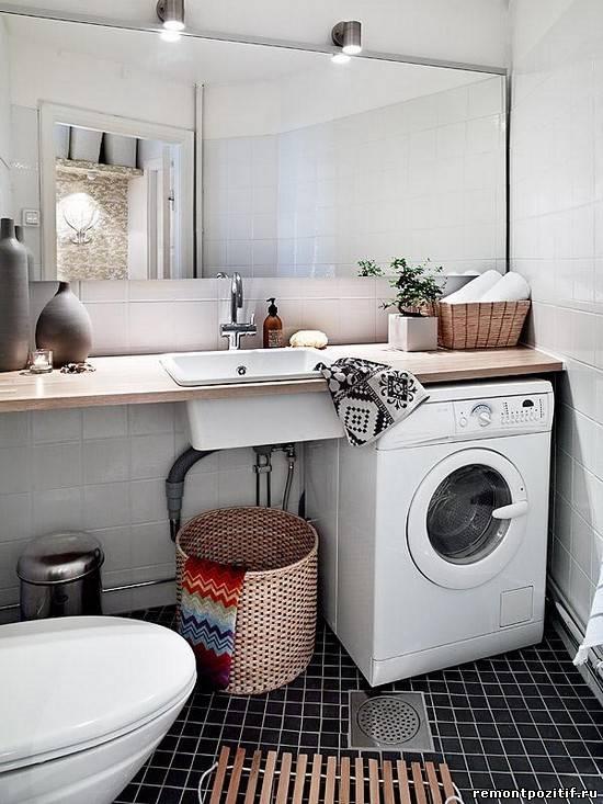 где поставить стиральную машинку