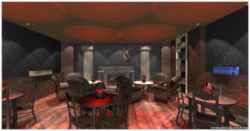 дизайн интерьера кафе для мужчин