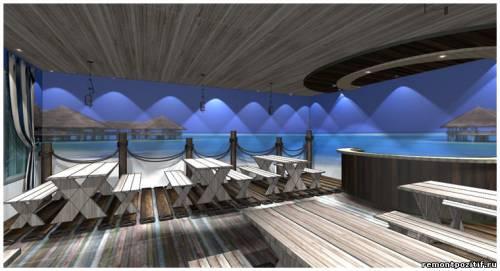 дизайн кафе в морском стиле