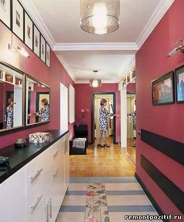 цветовое оформление небольшого коридора