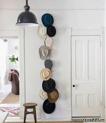 шляпы в украшении стен