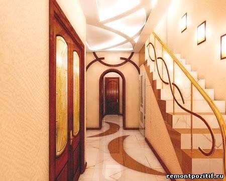 Свет в прихожей средних размером лучше обозначить на потолке в виде опять же потолочного светильника и одного...