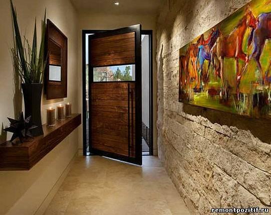 оригинальный дизайн узкого коридора