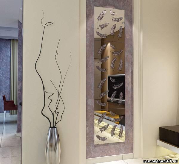настенное панно из зеркала