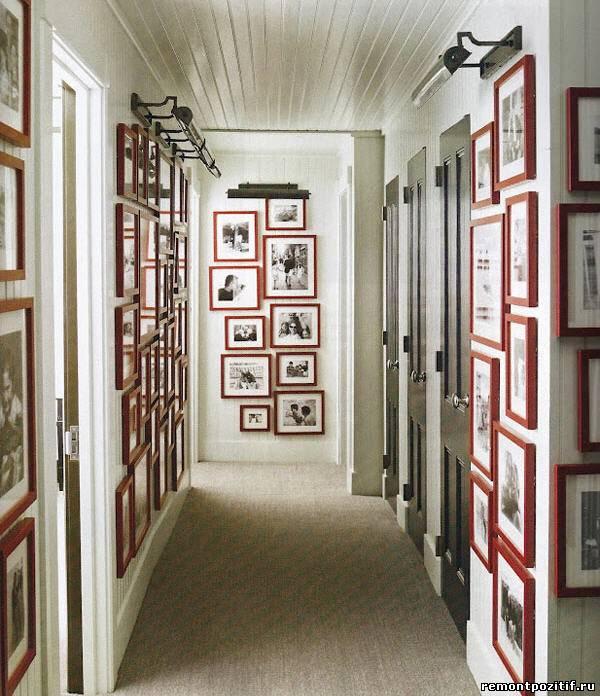 интерьер коридора с фотографиями