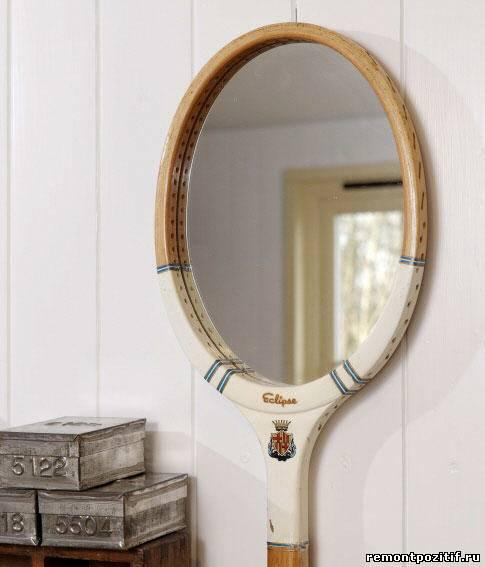 зеркало из спортивной ракетки