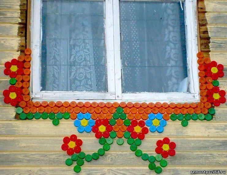 украшение фасада дачного домика