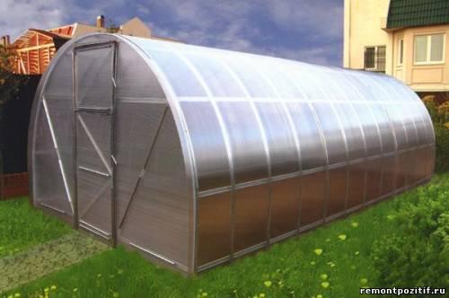 поликарбонатная теплица для выращивания растений