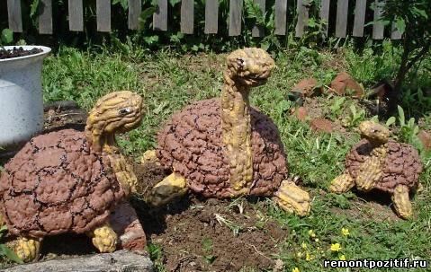 черепахи из монтажной пены