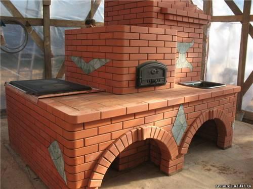 Уличный камин-барбекю