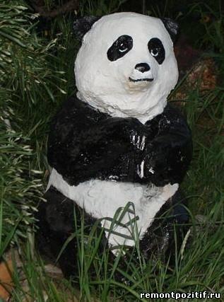панда из монтажной пены на даче