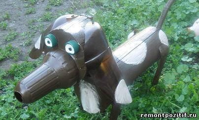 Собаки из пластиковых бутылок своими руками