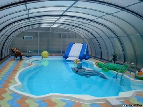 павильон для бассейна из светопрозрачного материала