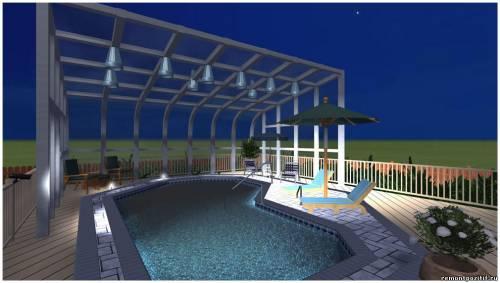 крытый бассейн на участке проект