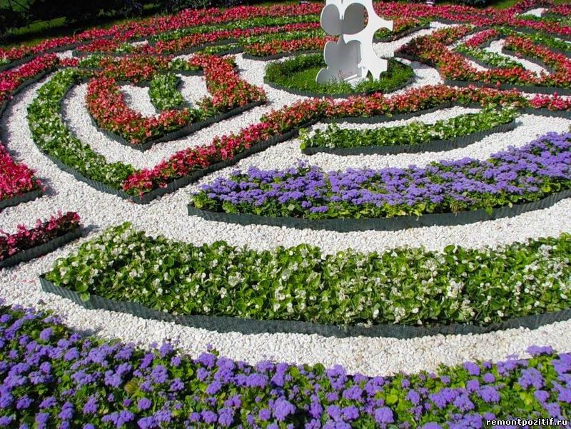 цветочный лабиринт