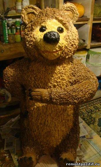 медведь из монтажной пены