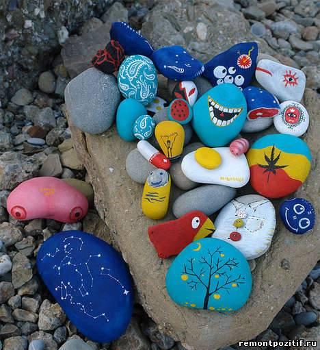 камни с росписью