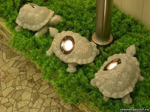 светильники-череаи из камня