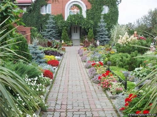 оформление входа в загородный дом