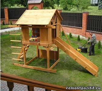 детский домик на участке
