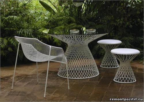 Садовая мебель своими руками из металла