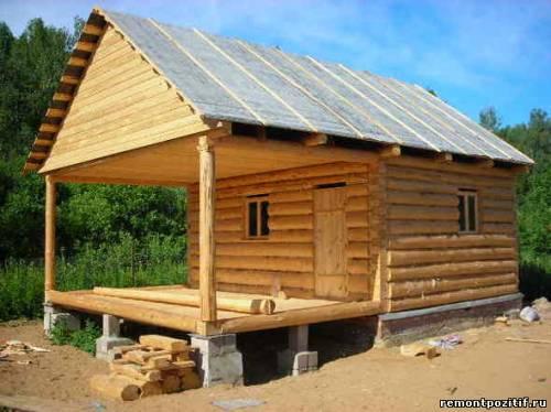 строительство деревянной веранды