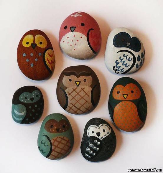 Разрисованные камни фото