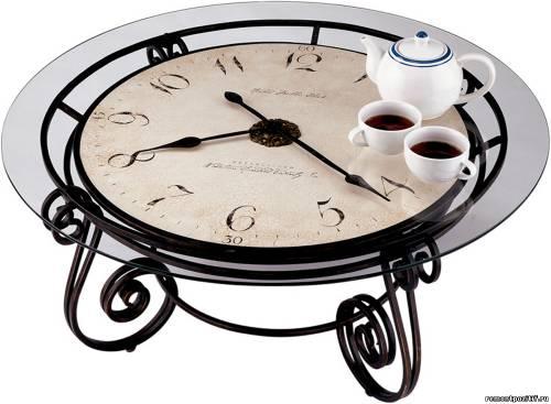 часы дизайне интерьера