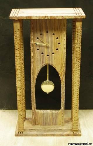 часы напольные деревянные