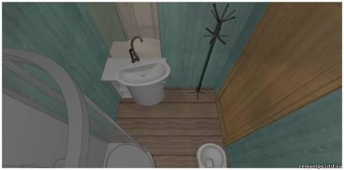 Небольшая ванная с душевой кабиной