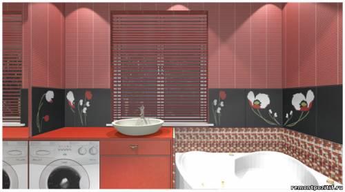 Дизайн ванной комнаты с перепланировкой